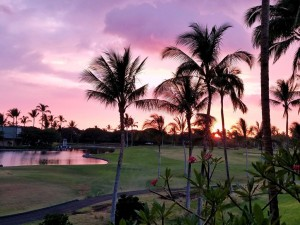 Evening in our villas on Hawai'i island