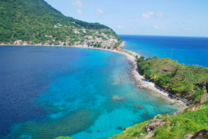 "The island of Dominica provided much of the inspiration for the lush, rich, evocative language of ""The Wide Sargasso Sea"""